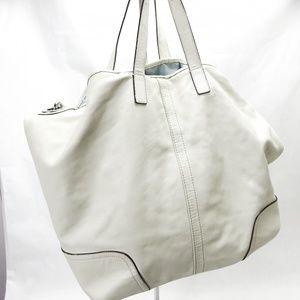 Coach Women's Tote Handbag Large Leather White